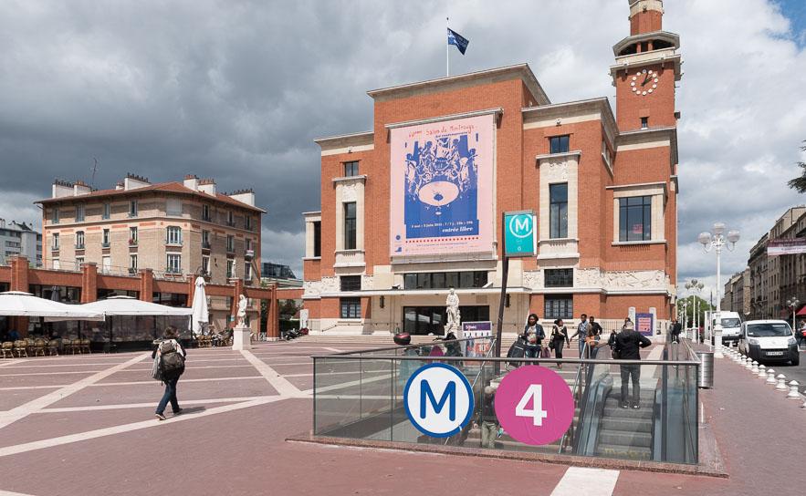 Accès à la station de métro M4 Mairie de Montrouge