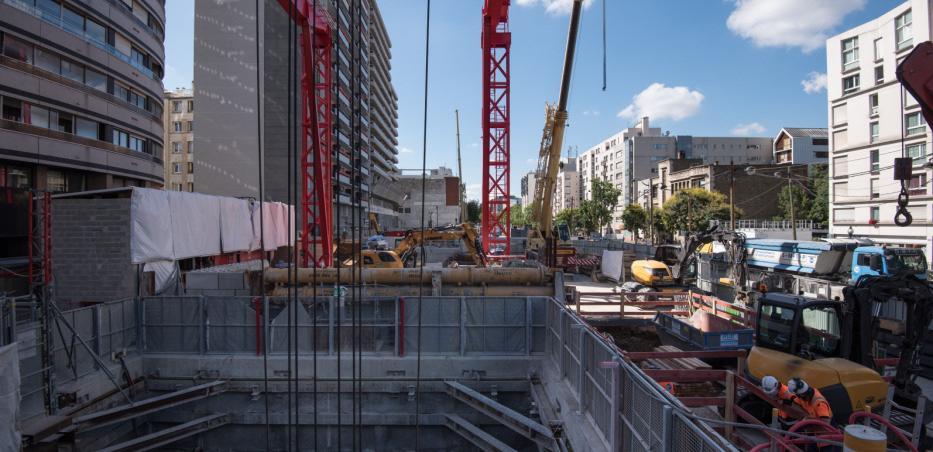 Photo du chantier de la Gare Maison-Blanche Paris XIIIe, en juillet 2020