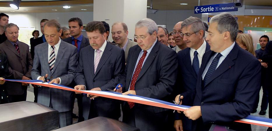 Inauguration du prolongement de la ligne 14 à Saint-Lazare le 25 juin 2007.