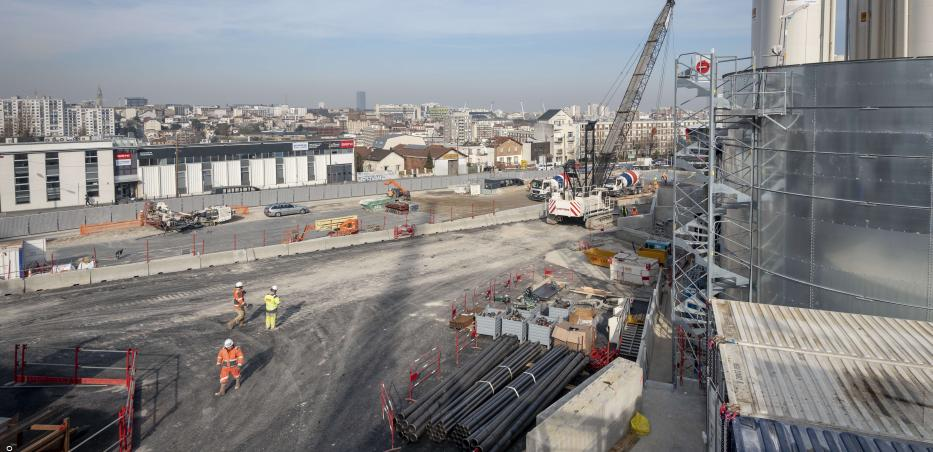 Photo du chantier de la gare Kremlin-Bicêtre Hôpital