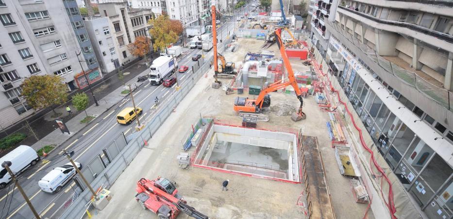 Photo du chantier de la gare Maison-Blanche Paris XIIIe