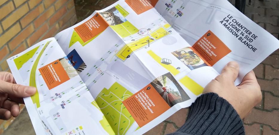Photo de la deuxième édition du guide du chantier de la gare Maison-Blanche Paris XIIIe