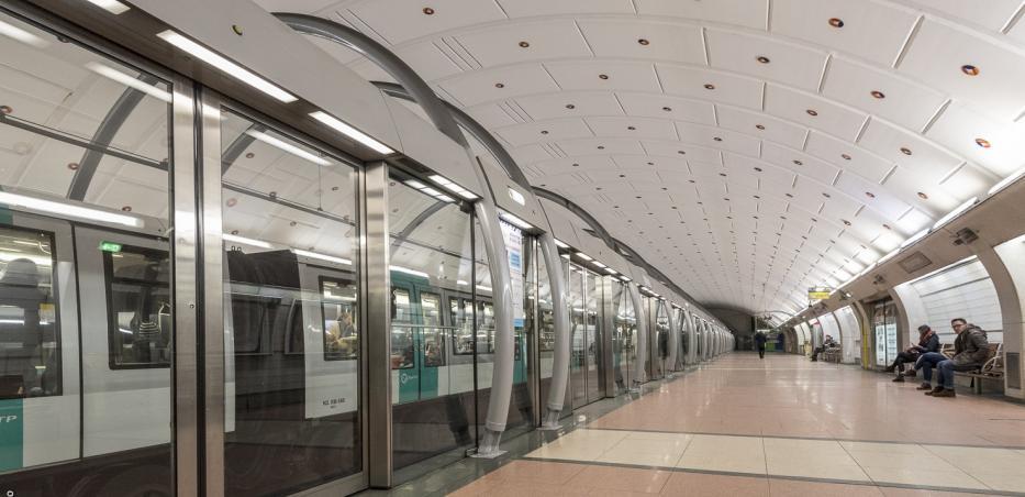 Olympiades, terminus actuel de la ligne 14.