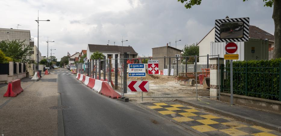 Prise de vue du chantier de l'ouvrage de service Hochdorf avant la phase de terrassement (mai 2019)
