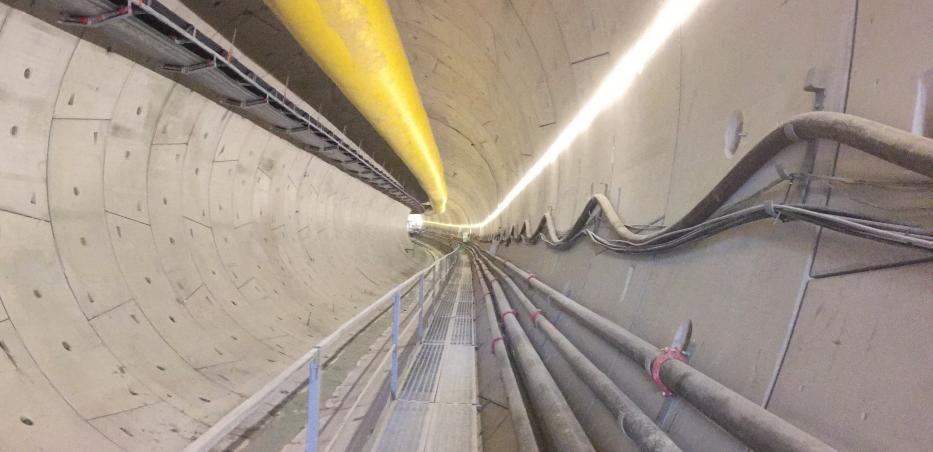 Photo du tunnel réalisé du prolongement de la ligne 14 Sud