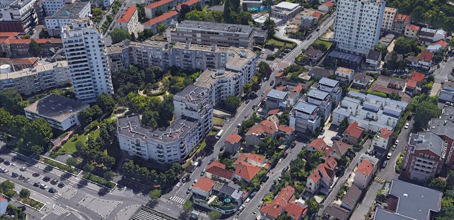 Vue aérienne de la rue Kennedy au Kremlin-Bicêtre