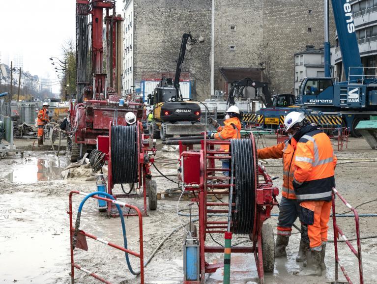 Photo du chantier de la gare Maison-Blanche Paris XIIIe en novembre 2020