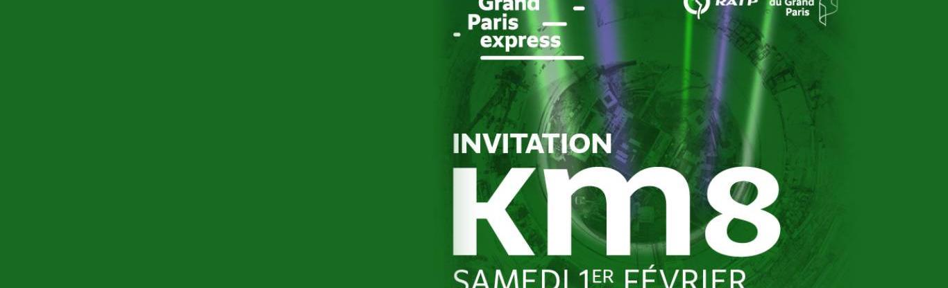 Visuel d'invitation à l'événement KM8