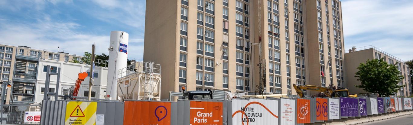 Photo du chantier de l'ouvrage de service Marcel Sembat en 2019