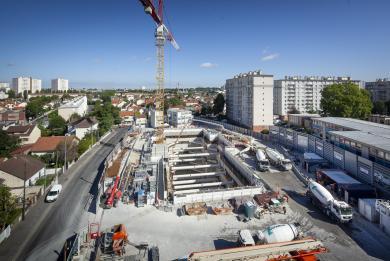 photo du chantier de la gare Chevilly Trois-Communes