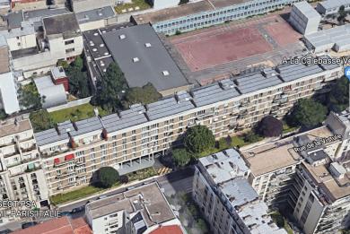 Vue satellite de la résidence Paris Habitat, 20 rue de la Vistule à Paris