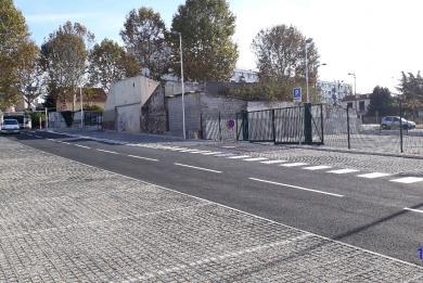 Photo de l'entrée du nouveau parking 115 avenue Charles Gide, au Kremlin-Bicêtre.