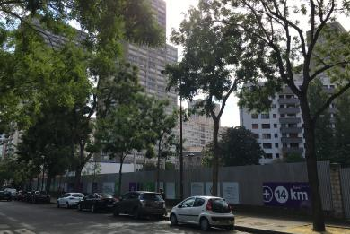 photo du chantier TEP Tolbiac rue Baudricourt