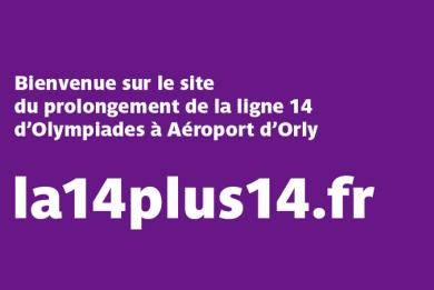 """Banière d'information concernant l'ouverture du site """"la14plus14.fr"""""""