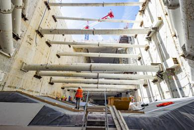 Photo du chantier de la gare Kremlin-Bicêtre Hôpital
