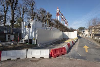 Photo du chantier de l'ouvrage Petit le Roy rue du Lieutenant Petit le Roy, à Chevilly-Larue (prise en février 2019)