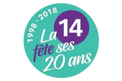 logo des 20 ans de la ligne 14
