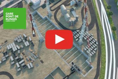 Miniature de la vidéo sur les travaux de génie civil de la ligne 14 Sud.