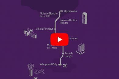 Miniature de la vidéo youtube sur le tracé de la ligne 14 Sud