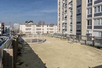 Vue en hauteur du chantier du futur ouvrage Marcel-Sembat rue du Professeur Bergonié.