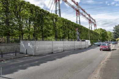 Photo du chantier de l'ouvrage Petit-le-Roy rue du Lieutenant Petit-le-Roy, à Chevilly-Larue.