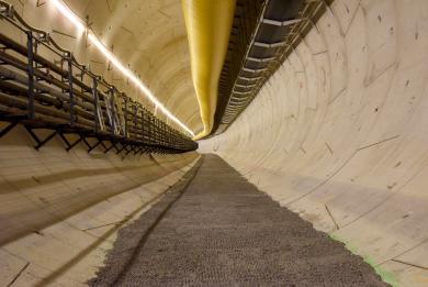 Photo du tronçon de tunnel réalisé entre l'ouvrage Marcel Sembat et la gare Kremlin-Bicêtre Hôpital