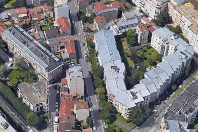 Vue aérienne de la rue Gambetta